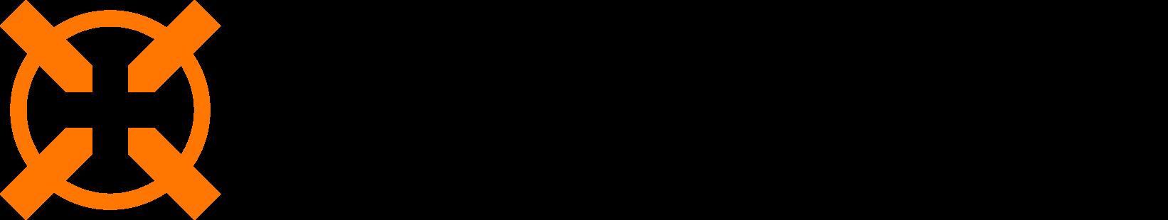 Hitmarker primary orange and black logo